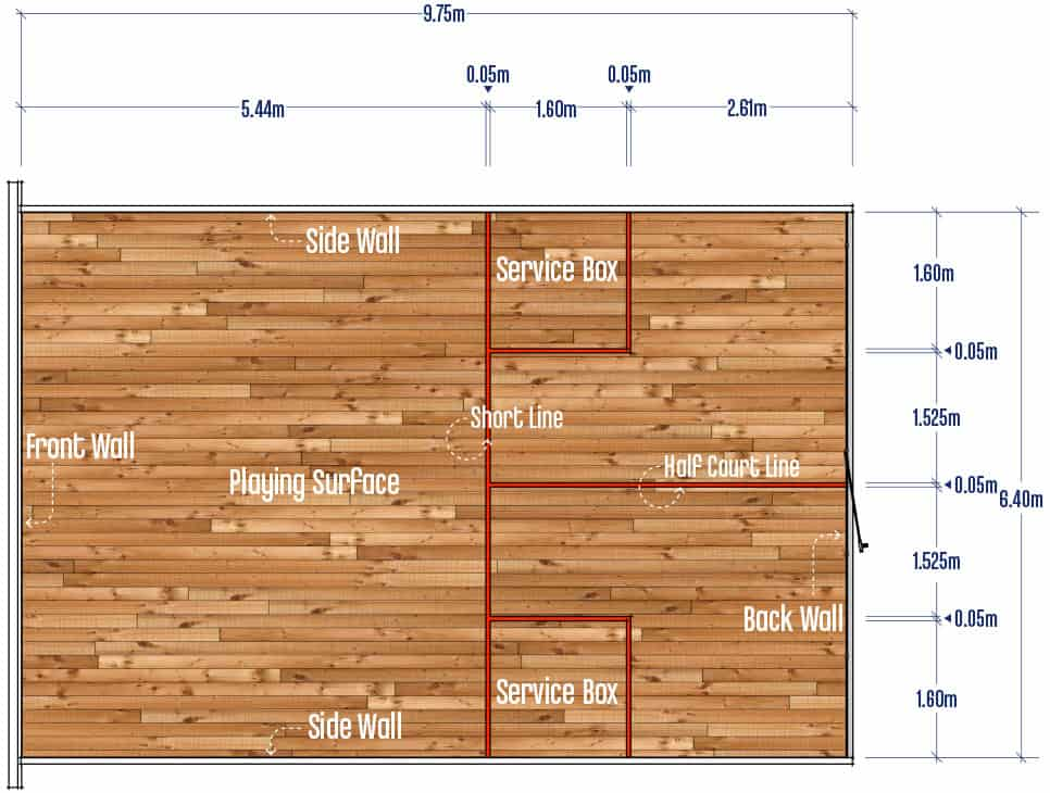 Squash Singles Court Measurements