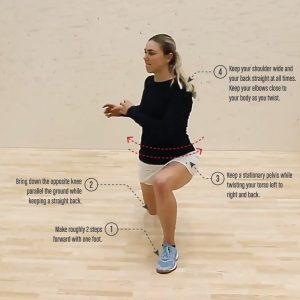 Squash Warm Up Lunge Twist