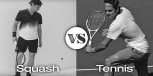 Roger Federer Playing Tennis and Squash