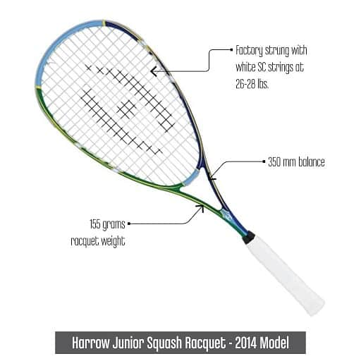 HarrowJuniorSquashRacquet2014Model
