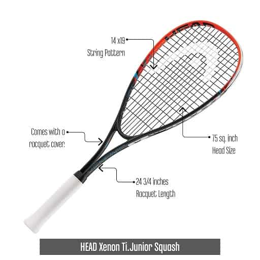 Junior-Squash-Racquet-HEAD-Xenon-Ti